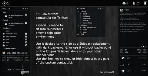 Enigma contact list by Scream81