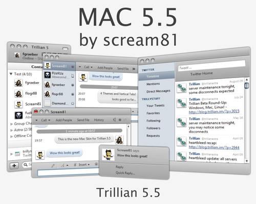 MAC 5.5 Skin for Trillian