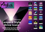 Leopard Style OS Drive Icons