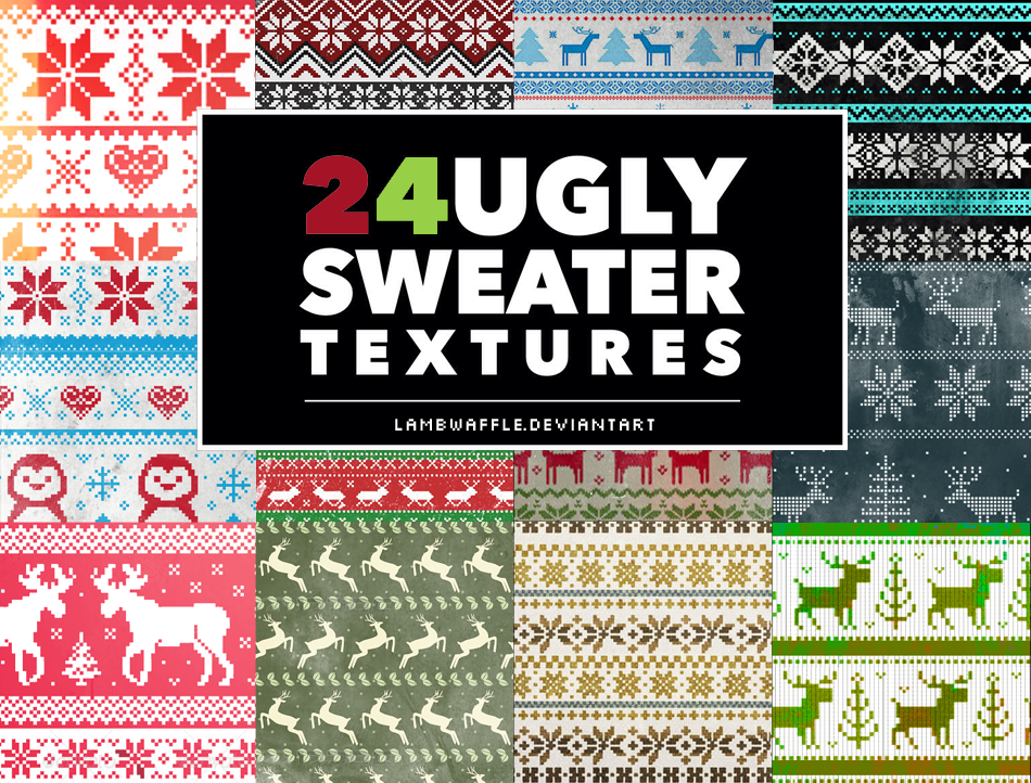 Ugly Christmas Sweaters Patterns.Ugly Sweater Textures By Lambwaffle On Deviantart