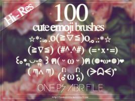 100 Cute Emoji Brushes by lambwaffle