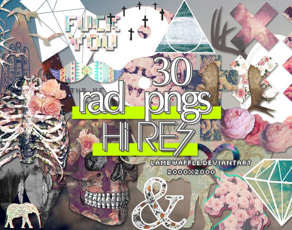 30 Rad PNGs by lambwaffle