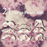 21 Mustache Brushes by lambwaffle