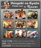 Shingeki no Kyojin Version 2 Anime Folder Icon by knives1024