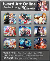 Sword Art Online Version 2 Anime Folder Icon b by knives1024
