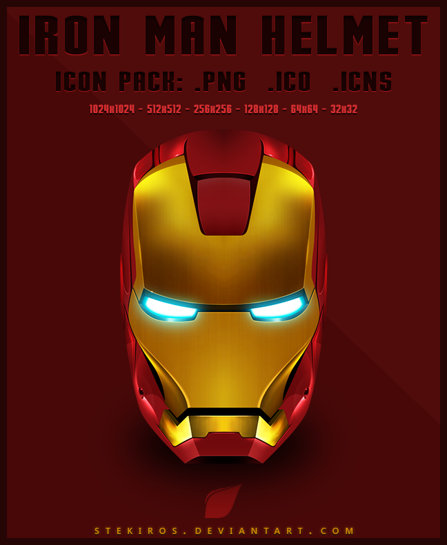 IronMan Helmet - Icon Pack by stekiros