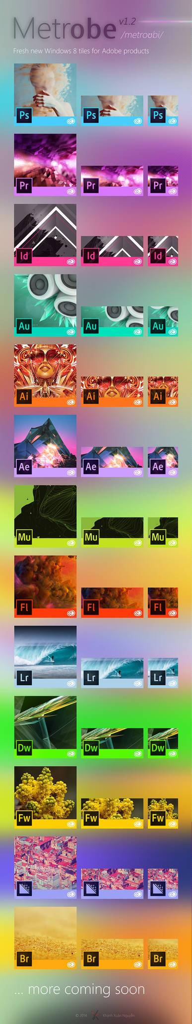 METROBE: Windows 8 Tiles for Adobe CC 2014 product