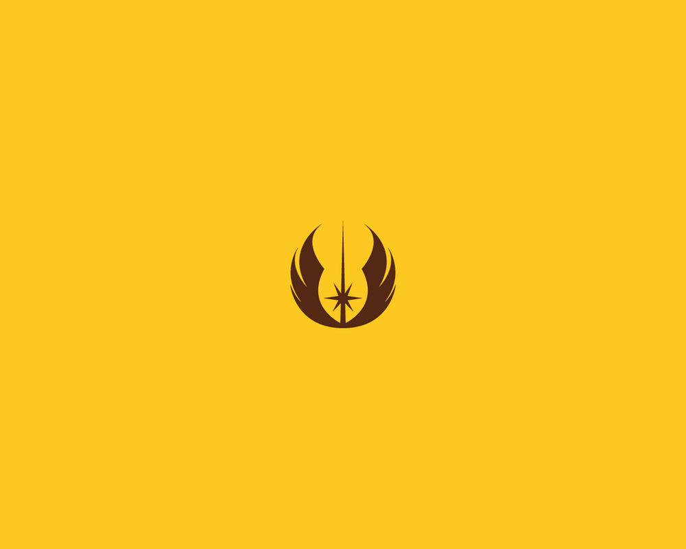 Minimalist Star Wars Wallpaper Jedi Emblem By Diros