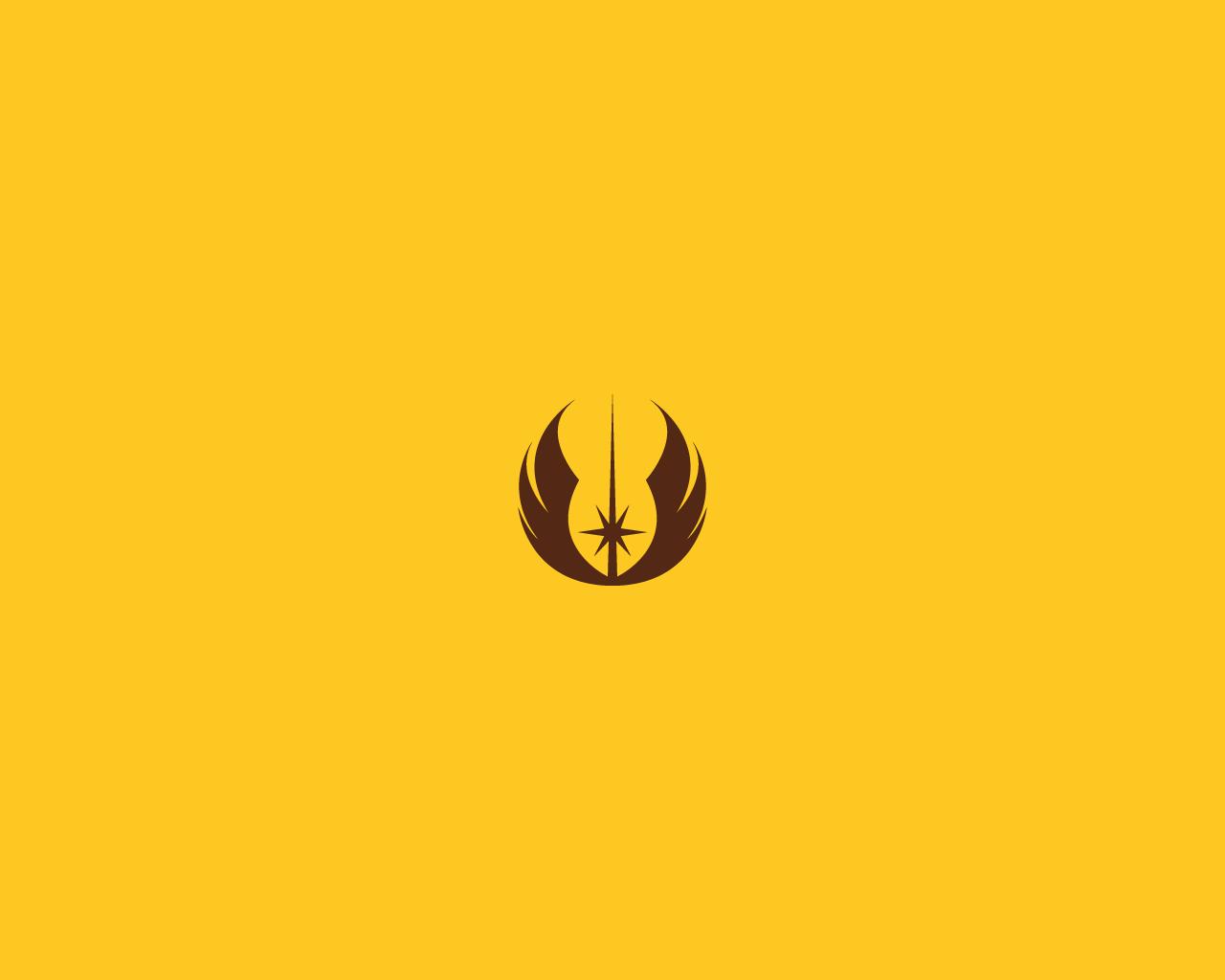 Minimalist Star Wars Wallpaper Jedi Emblem By Diros On