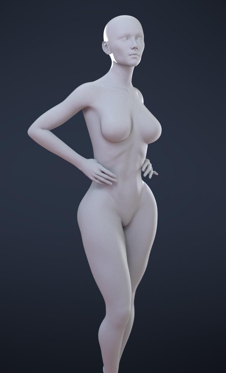 - Freebie - Female Plus, for Genesis 8 Female