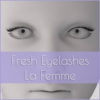 Fresh Eyelashes For La Femme