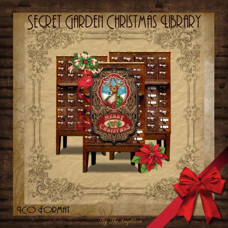 Secret Garden Christmas Library by TheAngeldove