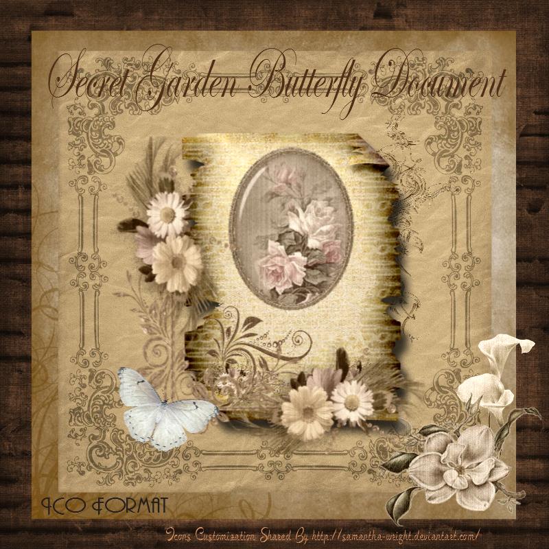 Secret Garden Butterfly Document by TheAngeldove