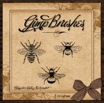 GIMP Brushes  Three Bumble Bee's
