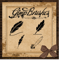 Gimp Brushes | Quill Brushes by TheAngeldove