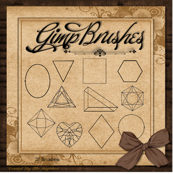 GIMP Brushes | Shapes Brushes by TheAngeldove