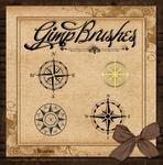 GIMP Brushes | Compass Rose Brushes