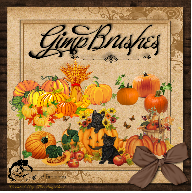 GIMP Brushes | Pumpkin Brushes by TheAngeldove