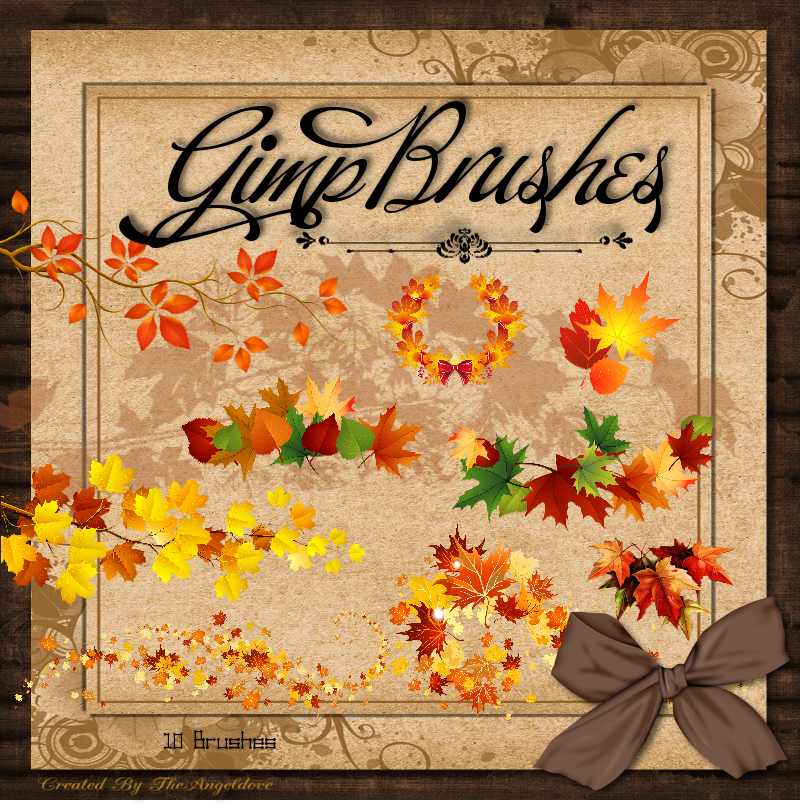 GIMP Brushes | Leaf Brushes by TheAngeldove