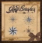 GIMP Brushes | Compass Rose Brushes II