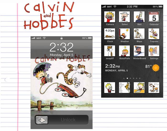 Calvin n' Hobbes iTheme by zevin