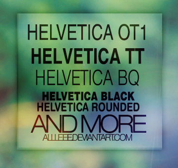 Helvetica font family by allleee on DeviantArt