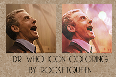 Dr Who Icon Coloring by PiccolaPerSempre