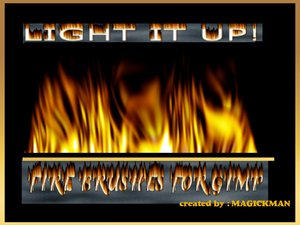 Fire Brushes For Gimp by blueeyedmagickman
