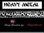 Heavy Metal brushes for Gimp