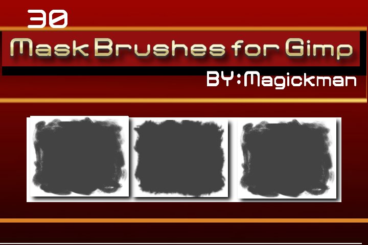 Masks Brushes for Gimp