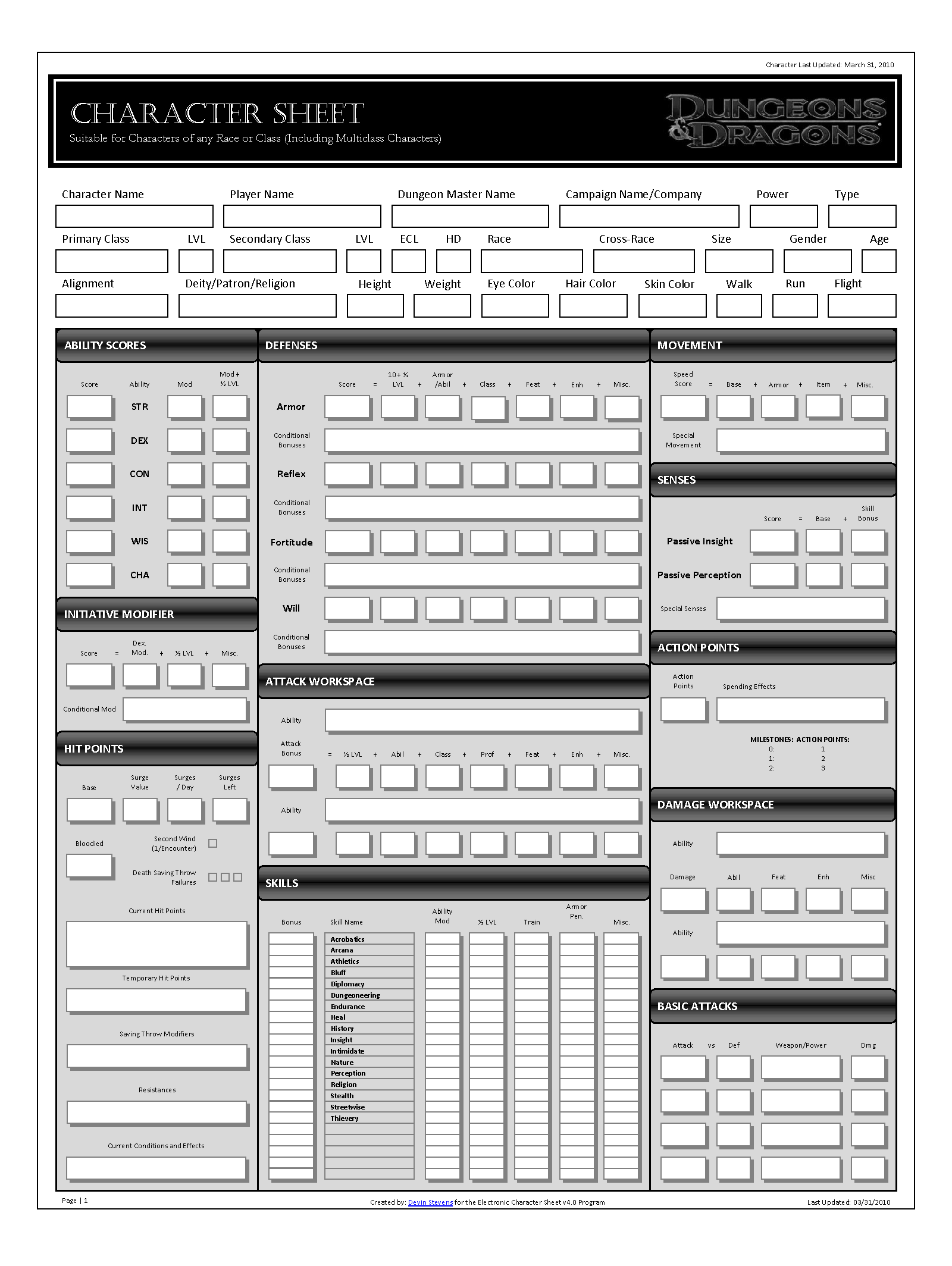 ECS Character Sheet 4.0 BW by SacredFootballLB