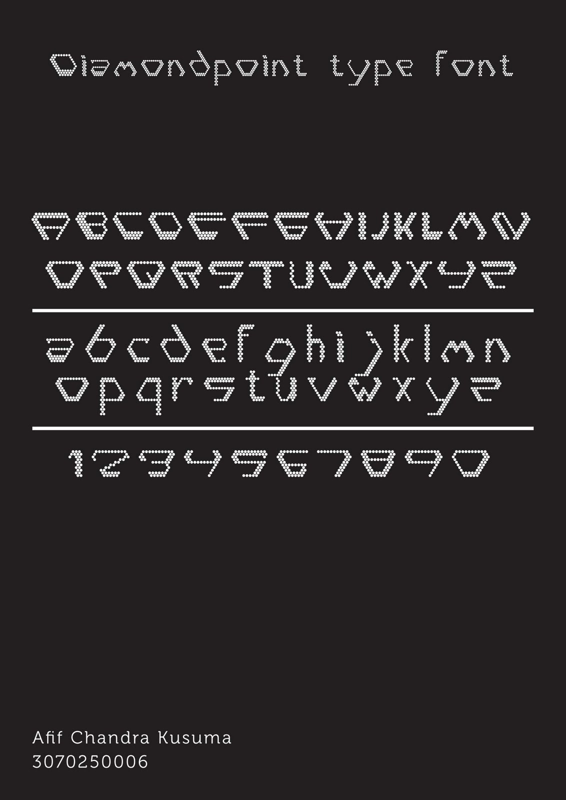 DIamondpoint typefont by findra