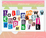 PACK PNG! Cropped letters #14