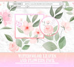 PACK PNG: Watercolor Flowers #15