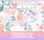 PACK PNG: Watercolor Flowers #19