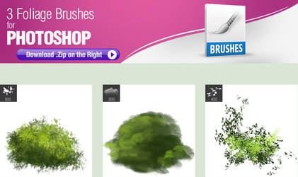 3 Foliage Brushes by pixelstains