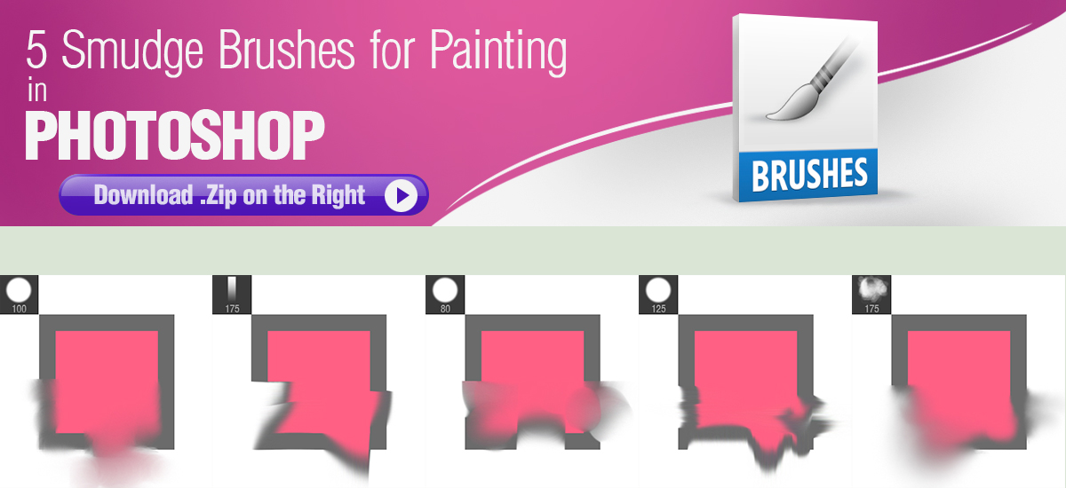 5 Smudge Brushes for Digital Painting by pixelstains