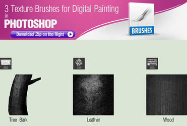 3 Texture Brushes for Digital Painting by pixelstains