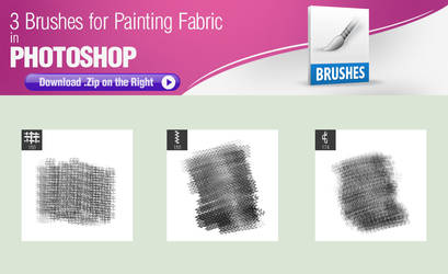 3 Brushes for Painting Fabric in Photoshop