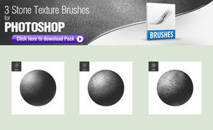 3 Stone Texture Brushes for Painting