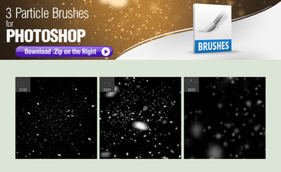 3 Particle Brushes for Photoshop