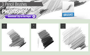 3 Pencil Brushes for Photoshop
