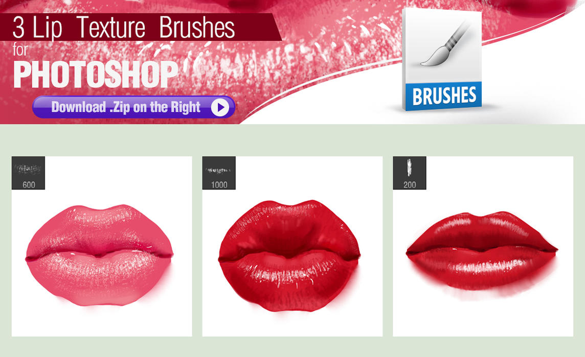 3 Photoshop Brushes for Painting Lip Texture by pixelstains on ...