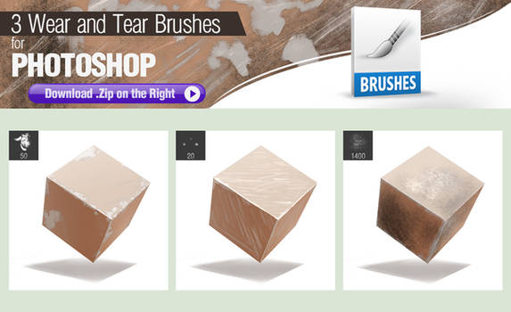 3 Photoshop Brushes for Painting Wear and Tear