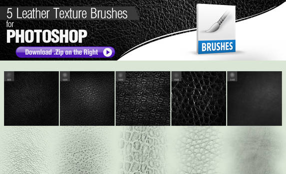 5 Photoshop Brushes for Painting Leather