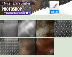 7 Photoshop Brushes for Painting Metal by pixelstains