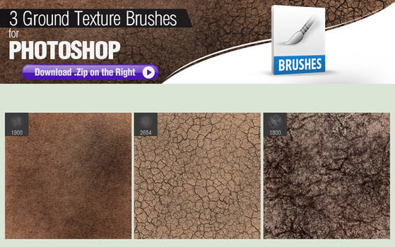 3 Photoshop Brushes for Painting Ground Texture
