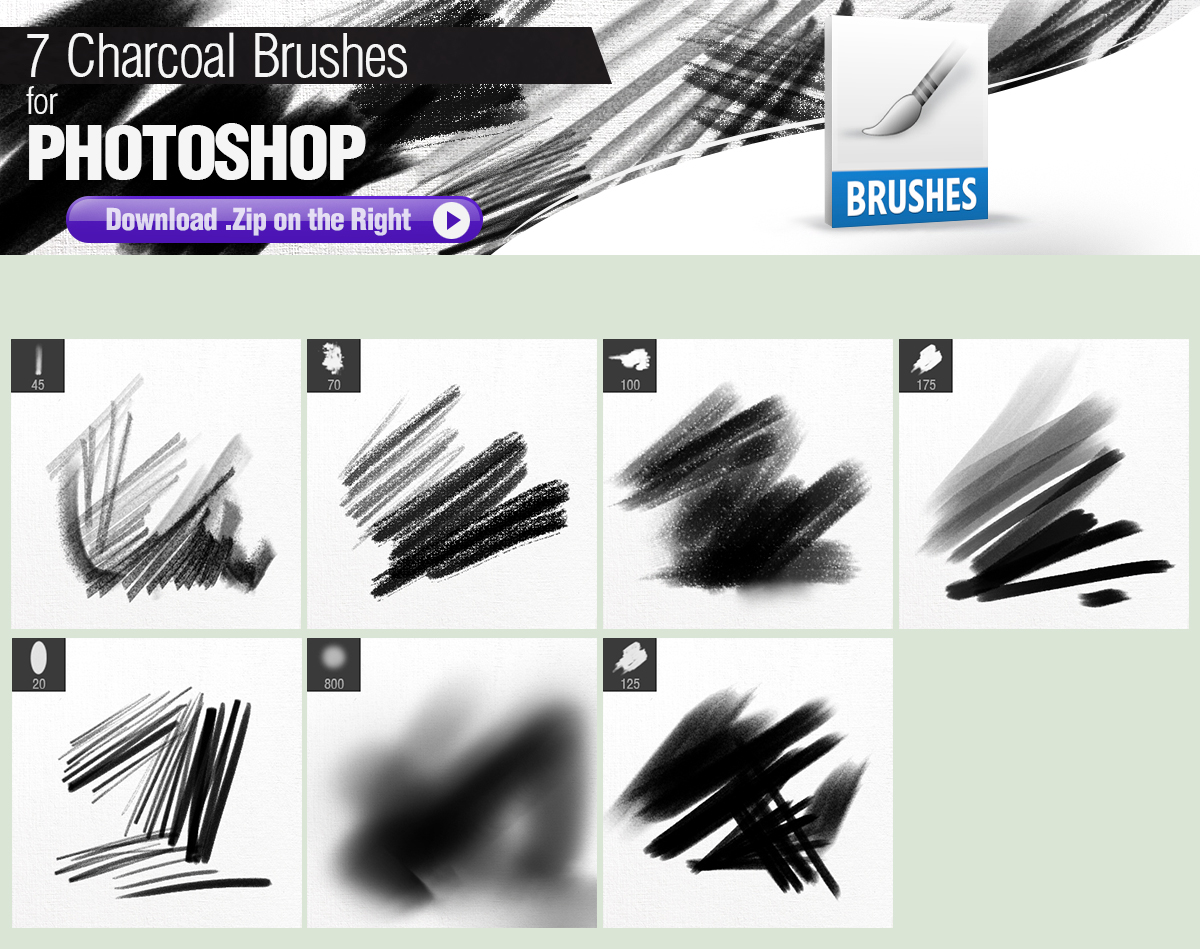 7 Charcoal Brushes for Photoshop by pixelstains on DeviantArt