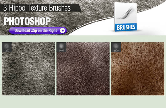 3 Photoshop Brushes for Painting Hippo Skin