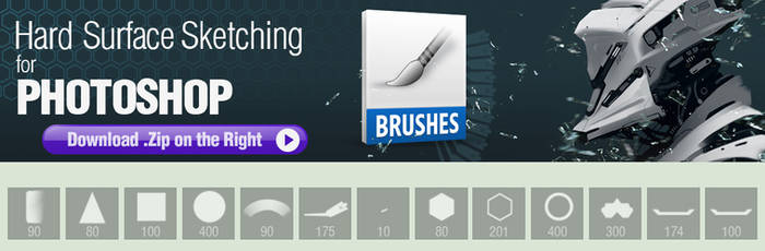 Photoshop Brushes for Hard Surface Sketching